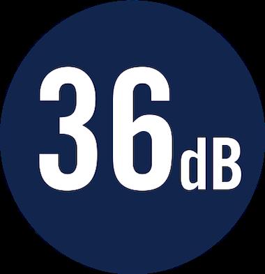 36 dB
