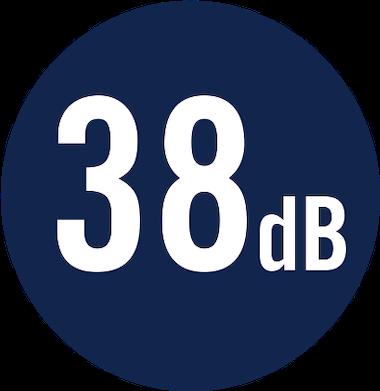 38 dB
