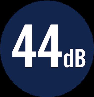 44 dB